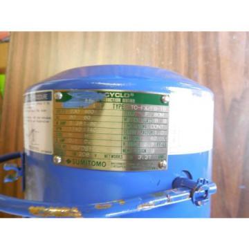 SUMITOMO SM CYCLO TC FX/FB 1B PHASE INDUCTION MOTOR WITH RNYMS1 43Y B 35