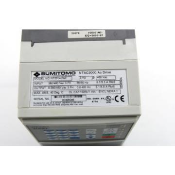 Sumitomo NTAC2000 AC Motor Drive 380-480Vac  NT2014-2A2 3Ph