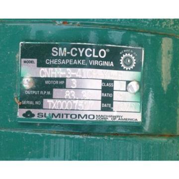 SM-CYCLO TC-F / FB-3B 3-PHASE INDUCTION MOTOR W/BRAKE SUMITOMO CNHM-3-410H-YA-B