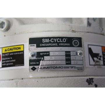 SUMITOMO SM-CYCLO CNVMS14-4100-B-17 GEAR MOTOR 17:1
