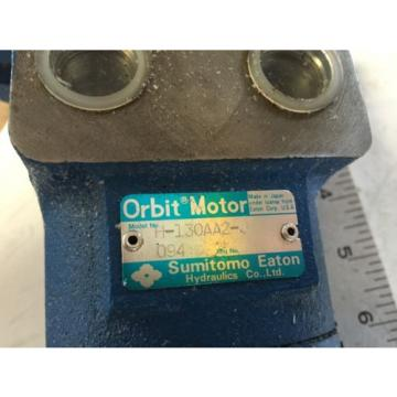 Origin OLD SUMITOMO/EATON H-130AA2-J ORBIT SEHYOO MOTOR HYDRAULIC MOTOR,BOXZC