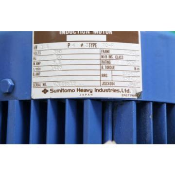 SUMITOMO origin Cyclo Drive CVVMS2-4145-71 Induction Motor TC-F 15KW Ratio 71:1