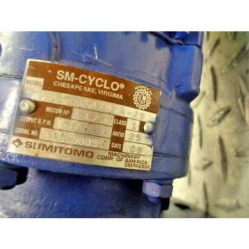 SUMITOMO SM-CYCLO TC-FX CNVM03-6075YA25 1/3HP 3PH 1700RPM