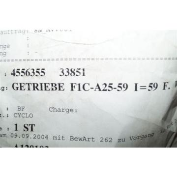 Sumitomo Cyclo Getriebe F1C-A25-59     I=59    F1CA2559