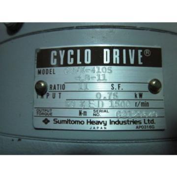 SINFONIA SSM-2075BGMS-C SUMITOMO CYCLO DRIVE CNVX-4105-LB-11 WITH SHINKO SS-SERV