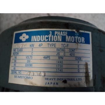 SUMITOMO CYCLO DRIVE CHHM-4190DB 2537:1 RATIO 075KW 1750RPM