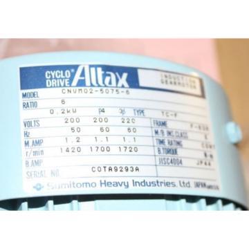 REDUCED Altax Cyclo Drive Induction Gearmotor Sumitomo CNVM02-5075-6 origin