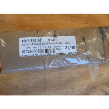 STAR / REXROTH 1805-562-61 LINEAR ROLLER GUIDE RAIL x 1400mm