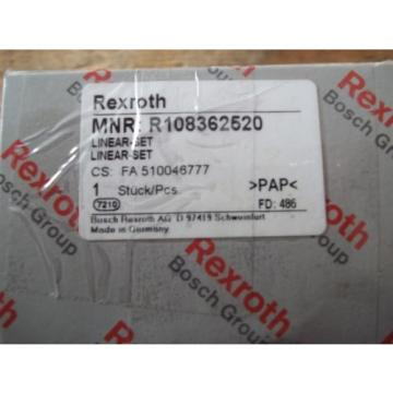 Origin IN BOX REXROTH R108362520 FLANGED LINEAR BUSHING BEARING SET