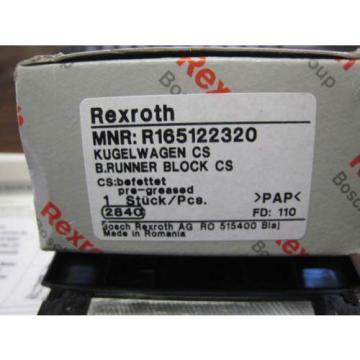 BOSCH Rexroth Runner Block Ball Carriage Linear Bearing R165122320 origin