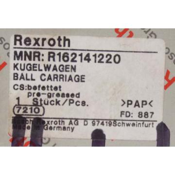 1 Origin REXROTH MNR:R162141220 BALL CARRIAGE LINEAR BEARING NIB