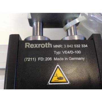 Origin REXROTH VE4/D-100 B 643 ST4  ,3 842 532 334 PNEUMATIC LINEAR STOP GATE BI