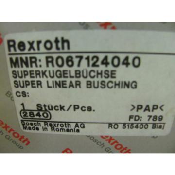 Rexroth R067124040 Super Linear Bushing