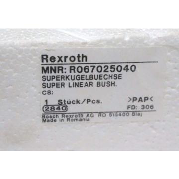 Origin REXROTH R067025040 SUPER LINEAR BUSHING