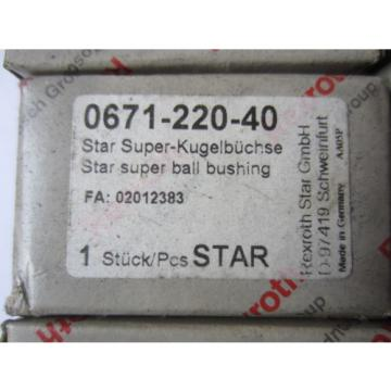 Rexroth Star Kugelbüchse 0671-220-40 FAG Kugellager Lager Linear Bushing Bosch