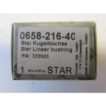 2 Rexroth Star Kugelbüchse 0658-216-40 FAG Kugellager Lager Linear Bushing Bosch
