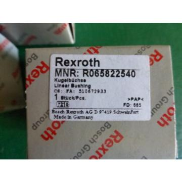 1 Lot of 4 Rexroth MNR R065822540 Supper Linear Bushings