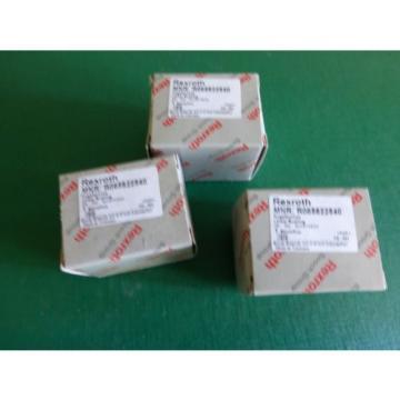 1 Lot of 3 Rexroth MNR R065822540 Supper Linear Bushings