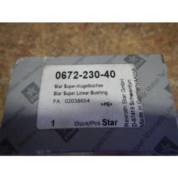 Origin Rexroth Star 0672-230-40 Super Linear Bearing Bushing 30mm Shaft Origin