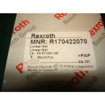Origin REXROTH BOSCH GROUP LINEAR-SET MNR: R170422070, NIB, READY TO GO