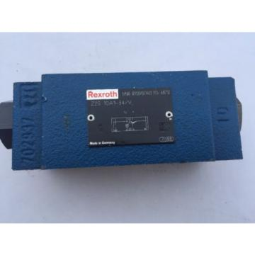 Rexroth Z2S R900407440 Piloted Open Check Valves, Sandwich Module