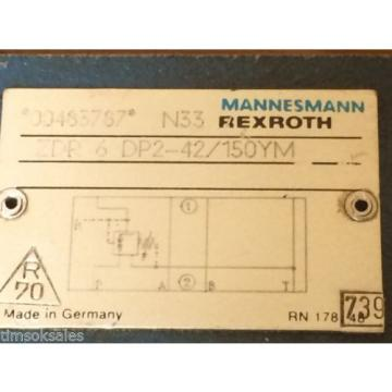 Rexroth Directional Pressure Relief Valve ZDR 6 DP2-42/150YM ZDR6DP242150YM USED