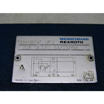 Rexroth Hydraulic Directional Valve ZDR 10 DP2-54/210YM  /  Invoice