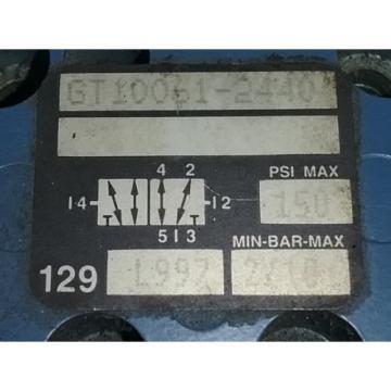 REXROTH CERAM, PNEUMATIC VALVE, GT10061-2440, 150 PSI MAX, 129L997