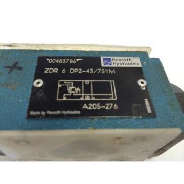 Origin REXROTH HYDRAULIC ZDR 6 DP2-43/75YM   A205-276, 00483786 VALVE   GB