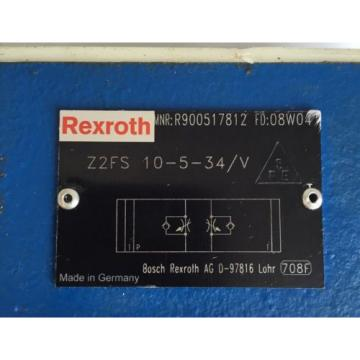 Rexroth Z2FS 10-5-34/V throttle check valve  H17-TOP