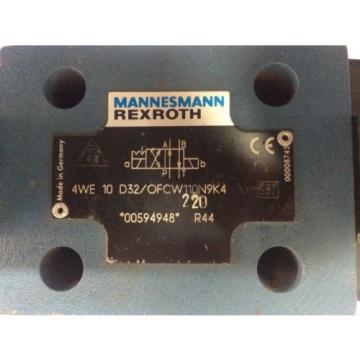 4WE10 D 3X/OFC W110 N9K4 Rexroth R983030950 Direction Control Valve,Aventics