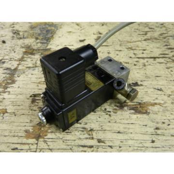 Bosch Rexroth Valve Unit, P/N 0820005101, w/ 1827414004, 24V Solenoid, Used