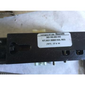 Origin REXROTH 262-180-300-1K0,262-180-300-1KO PNEUMATIC VALVE MANIFOLD 5599/2,BOX1