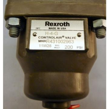 Rexroth Control Air Valve H-4-G , R431002963