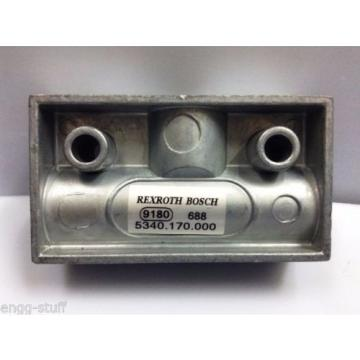 REXROTH / BOSCH / WABCO 5340170000  SHUTTLE VALVE FOR OIL AND AIR, M14X15
