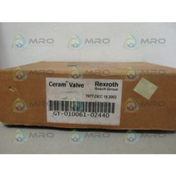 REXROTH GT-010061-02440 CERAM VALVE Origin IN BOX