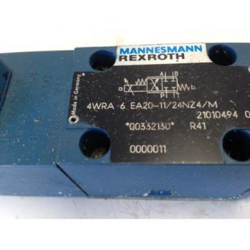 Origin MANNESMANN/REXROTH 4WRA 6 EA20-11/24NZ4/M VALVE 21010494 01,GP45A4-A 268  FI