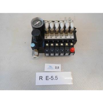 Rexroth Valve Terminal 0820060761mit 5x Directional Control Valve 5/2 +