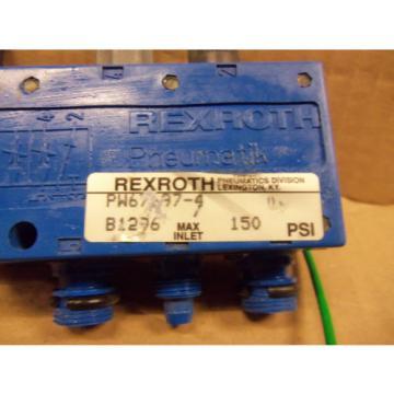 RexRoth PW67697-4 PW676974 B1296 150 PSI Pneumatic Solenoid Valve