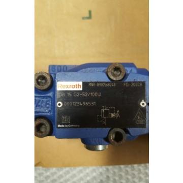Origin REXROTH HYDRAULIC PRESSURE RELIEF VALVE DB 15 G2-52/100U
