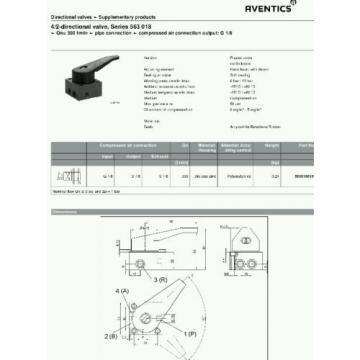 Rexroth 4/2 Directional  Valve 5630180100 pneumatic