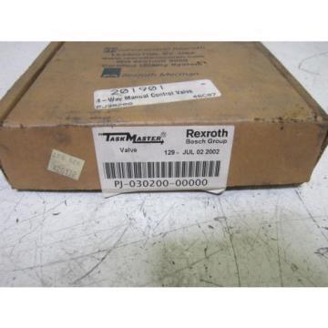 REXROTH PJ-030200 DIRECTIONAL CONTROL VALVE 150PSI  Origin IN BOX