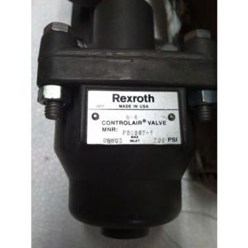 R431002818 REXROTH P50967-1 Aventics Pneumatics  H-4 CONTROL AIR VALVE, 0-65 PSI