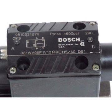 BOSCH REXROTH 9810231276 DIRECTIONAL CONTROL VALVE 081WV06P1V1014KE115/60 D51