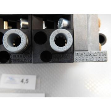 Rexroth Pneumatic Valve terminal mit 4 x rexroth 576360 + rexroth 376351 top 1a