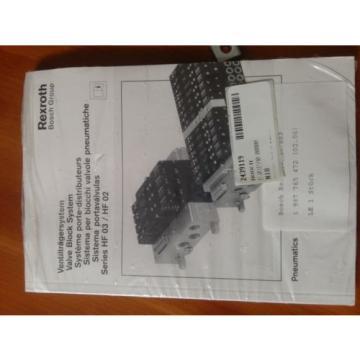 BOSCH REXROTH P-031590-00000 VALVE BLOCK SYSTEM, Origin