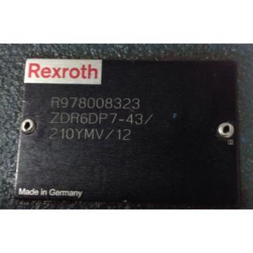 REXROTH PRESSURE REDUCING VALVE R978008323 / ZDR6DP7-43/210YMV/12 99088