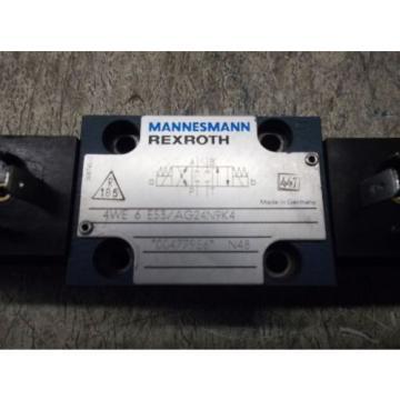 MANNESMANN REXROTH 4WE 6 E53/AG24N9K4 VALVE LOT OF 2 USED