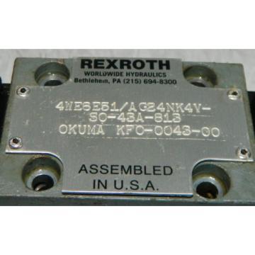 Rexroth / Okuma Hydraulic Valve, 4WE6E51/AG24NK4V-S0-43A-813, Used, WARRANTY
