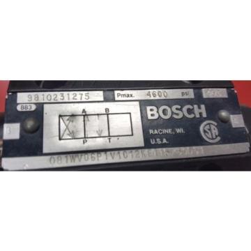 081WV06P1V1012KE115/60D51, BOSCH REXROTH 9810231276 CONTROL VALVE